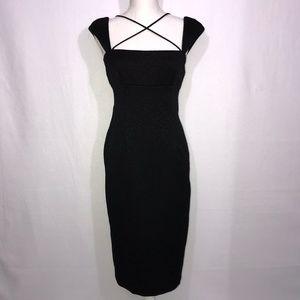 David Meister Black Sleeveless Pencil Dress 6